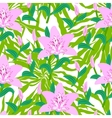 Floral pattern with tropical big pink lily flowers