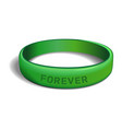 forever green plastic wristband vector image vector image