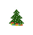 gift christmas tree color icon element of vector image vector image