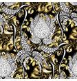 golden pattern seamless golden textured curls in vector image vector image