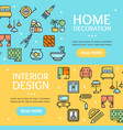 home decor signs banner horizontal set vector image vector image
