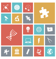 icons tile science vector image vector image