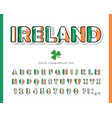 ireland cartoon font irish national flag colors vector image