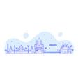 kolkata skyline west bengal india city line vector image vector image