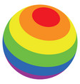 lgbt color stripes sphere vector image