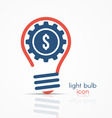 light bulb idea icon with gear and dollar sign vector image vector image