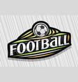 logo for football vector image vector image
