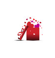 love happy valentines day template gift vector image