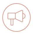 Mmegaphone line icon vector image vector image