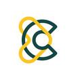 modern professional logo monogram c and heart vector image