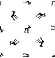moose pattern seamless black vector image vector image