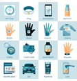 NFC Technology Icons Set Flat Style vector image vector image