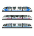 passenger trains realistic set vector image vector image