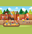 people at the playground vector image