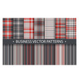 plaid pattern seamless ornate set business vector image vector image