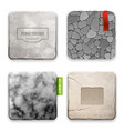 realistic stone texture design concept vector image vector image