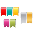 Ribbon set on white background vector image vector image