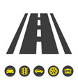 road icon on white background vector image