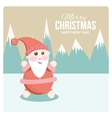 Satisfied Santa on holiday cards vector image vector image