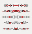 set decorative ethnic borders vector image
