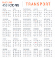 set line icons transport vector image vector image