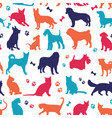 set nicecolors cats and dogs background vector image