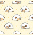 sleeping sheep seamless pattern background vector image vector image