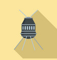 small space capsule icon flat style vector image vector image