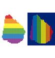 spectrum pixel dotted uruguay map vector image