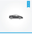 sports car icon simple car sign vector image vector image
