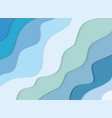 summer 3d sea waves banner paper cut out layers vector image