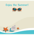summer background with seasunglassesstarfish and vector image vector image