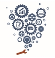 Teamwork graphic design REd Wrench GEars vector image vector image