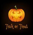 trick or treat happy halloween banner with pumpkin vector image vector image