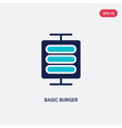 two color basic burger icon from business concept vector image vector image