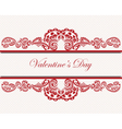 Valentines Day Lace Card vector image