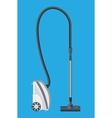 White modern vacuum cleaner vector image