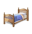 Wood bed in cartoon style vector image vector image