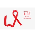 World AIDS Day 1 December vector image vector image