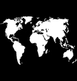 World map isolated on black vector image vector image