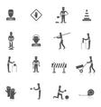 Road Worker Black Icon vector image