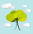 Tree with Clouds vector image