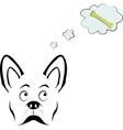 Dog thinking about bone vector image