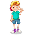 A young gentleman waving his hand vector image vector image