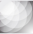 abstract white stack circle background vector image vector image