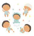 african baby set african american toddler boys vector image vector image