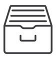 archive storage line icon web and mobile vector image vector image