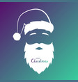 avatar of the silhouette of santa claus vector image