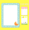 baby shower invitations cards note list vector image
