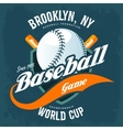 Bats behind baseball ball on shield t-shirt logo vector image vector image